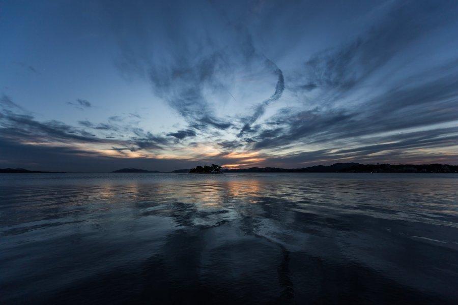 宍道湖的日落